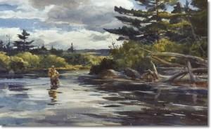 ogden-pleissner-trout-stream-in-maine
